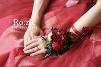 2017.6.26 赤いドレスと小さなブーケ花冠リストレットと花嫁さま/プリザーブドフラワー - Ro:zic die  floristin