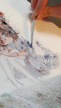 娘の絵 - Lapi Rose  消しゴムはんこ作品集