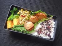 6/26 ホタテの生姜焼き弁当 - ひとりぼっちランチ