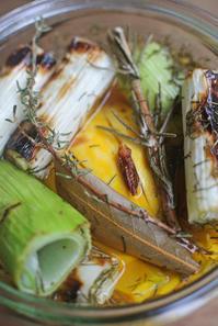 焼きネギのピクルスと梅仕事後半戦・梅干し - グルグルつばめ食堂