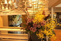 エニタイムフィットネス赤羽北店様 定期活け込みの花 オリエンタル - 北赤羽花屋ソレイユの日々の花