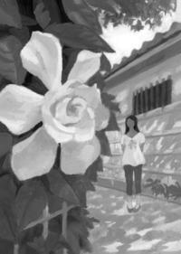 小説すばる 阿刀田高さん連載小説第10回「くちなしの便り」扉絵と文中挿絵 - 「ふつう」って・・・なに?