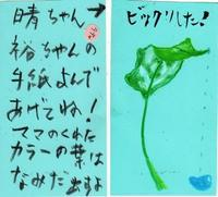 葉っぱが泣いている! - 毎日手紙を描こう★貰うともっと嬉しい手紙