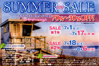ついにSUMMER SALEがスタートします!!!!! - UNIQUE JEAN STORE IMPORTSIDE