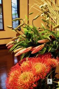 いよいよ夏のお花で、「色と素材の対比」 - Bouquets_ryoko
