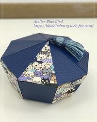 Lesson作品(厚木カルチャー2017/vol.3) - ☆Blue Bird☆cartonnageからの贈り物