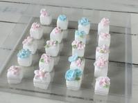 お花絞りをのせた角砂糖 - 調布の小さな手作りお菓子・パン教室 アトリエタルトタタン