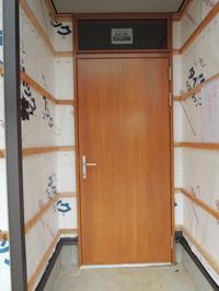 「通じる家/岡崎」木製玄関戸設置 - KANO空感設計のあすまい空感日記