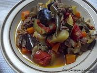 夏野菜たっぷりギベチと蕪のえのき佃煮和え - これ旨いのか?
