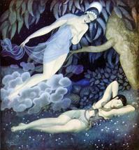 エドマンド・デュラック画:セレーネとエンディミオン - Books