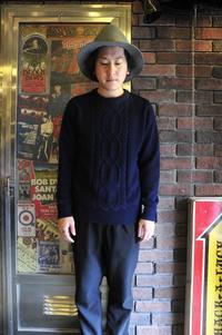 Original Blue Indigo Knit Sweater - 仙台古着屋shack-a-luck (シャカラック)
