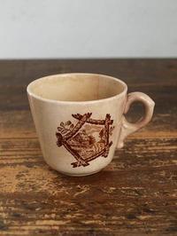 小鳥と田園の風景 小さなカップ   /562 - Glicinia 古道具店