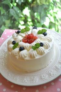 さくらんぼのショートケーキ - 調布の小さな手作りお菓子教室 アトリエタルトタタン