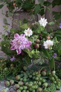 6月のレッスン実物とハーブを使ったナチュラルなコンポジション -  La Fleur