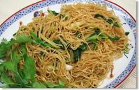 蝦子麺で香港焼きそば - ヒビノアワ