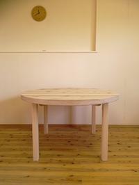 杉の丸テーブル - woodworks 季の木  日々を愉しむ無垢の家具と小物