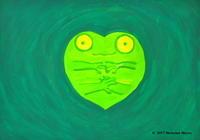 絵画「カエル」 - Nemuiwa Neyouのギャラリー