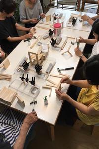 DIYワークショップ『ミニチュア椅子を作ろう!』7月の部が終了しました。 - CROSSE 便り