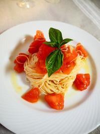 フレッシュトマトの冷製パスタ - Kitchen diary