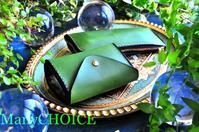 イタリアンバケッタレザー・エルバマット・コインキャッチャー財布とL型ペンケース・時を刻む革小物 - 時を刻む革小物 Many CHOICE~ 使い手と共に生きるタンニン鞣しの革