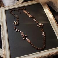 「&Accessories」に連れてゆく秋色ロングネックレス - Labra ~stones and beads~