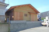 お茶室の足場が外れました。 - 堂宮大工 内田工務店 棟梁のブログ