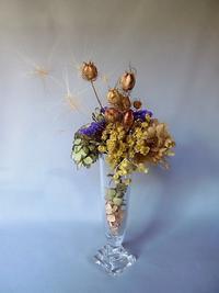 ハーブと共に枯れ素材で飾る - 活花生活(2)