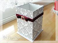 リビングにシンプル&可愛いリモコンBOX - Rosy Rosette カルトナージュ日記
