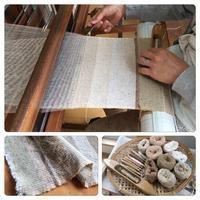 手紡ぎ糸でハンカチ織りワークショップ - アトリエ*つむぎねこ