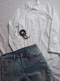 昨日に続き白シャツ - めいの日々是好日