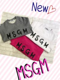 New!!「MSGM」トレーナー入荷です! - UNIQUE SECOND BLOG