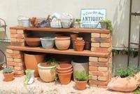 鉢置き場をたぶんDIY - HOME SWEET HOME ペコリの庭 *