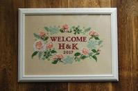「庭摘みのバラとカラーリーフのリース」ステッチキット新発売 - CROSS SKETCH