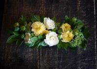 お誕生日の女性へ。「やさしい感じ」。豊平7条にお届け。ブリキコンテナアレンジメント。2017/07/14。 - 札幌 花屋 meLL flowers