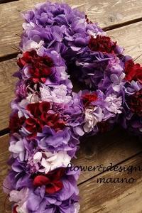 赤と紫のリース - maano diary マーノ日々のこと