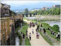 京都の夏 -   陶  工  房 「 ね む り 観 音 」