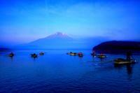 29年7月の富士(9)釣り船と富士 - 富士への散歩道 ~撮影記~