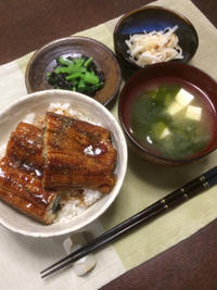 うな丼 - 庶民のショボい食卓