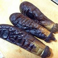 焼き茄子 夏野菜を焼こう! - 線路マニアでアコースティックなギタリスト竹内いちろ@三重/四日市