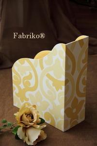 イエローをお部屋に置くなら - Fabrikoのカルトナージュ ~神戸のアトリエ~