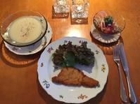シュニッツエル/ビシソワーズ/トマトとイカのサラダディル風味 - まほろば日記