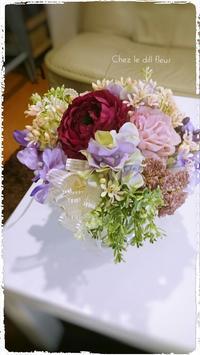 福岡フラワーアレンジメント教室・アーティフィシャル - 福岡パリスタイルフラワーアレンジメント教室 Chez le dill fleur   シェ・ル・ディル・フルール