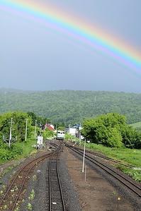 藤田八束の鉄道写真@留辺蘂(るべしべ)、釧網線での思い出・・・・美しい虹とローカル電車 - 藤田八束の日記