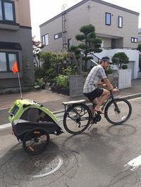 自転車トレーラー、使ってます! - 秀岳荘自転車売り場だより