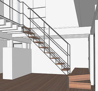 横浜M邸鉄骨トラス階段の検討 - i+i