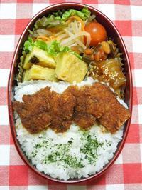 ソースカツ丼★(^^♪・・・・・息子弁当 - 日だまりカフェ