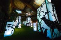 和のあかり×百段階段展2017 ~日本の色彩 日本の意匠~ 草丘の間 - 光の贈りもの