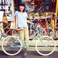 ☆今日のバイシクルガール☆ 自転車女子 自転車ガール ミニベロ クロスバイク ライトウェイ トーキョーバイク シュウイン ラレー ブルーノ おしゃれ自転車 マリン - サイクルショップ『リピト・イシュタール』 スタッフのあれこれそれ