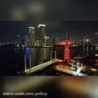 「屋上から夜景」豊洲 - こころ絵日記 Vol.1