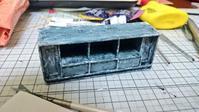 上棚と机の完成 - およそ0.1m2のミニチュア製作